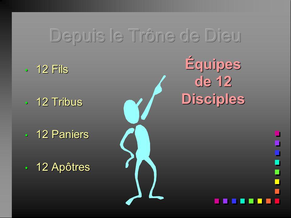Depuis le Trône de Dieu Équipes de 12 Disciples 12 Fils 12 Tribus