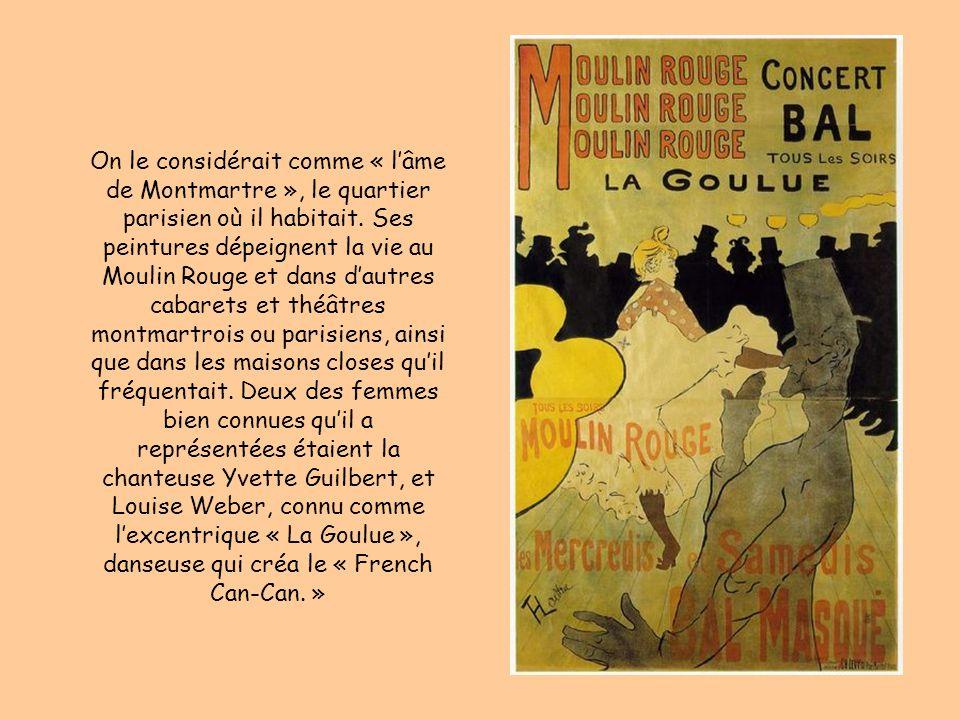 On le considérait comme « l'âme de Montmartre », le quartier parisien où il habitait.