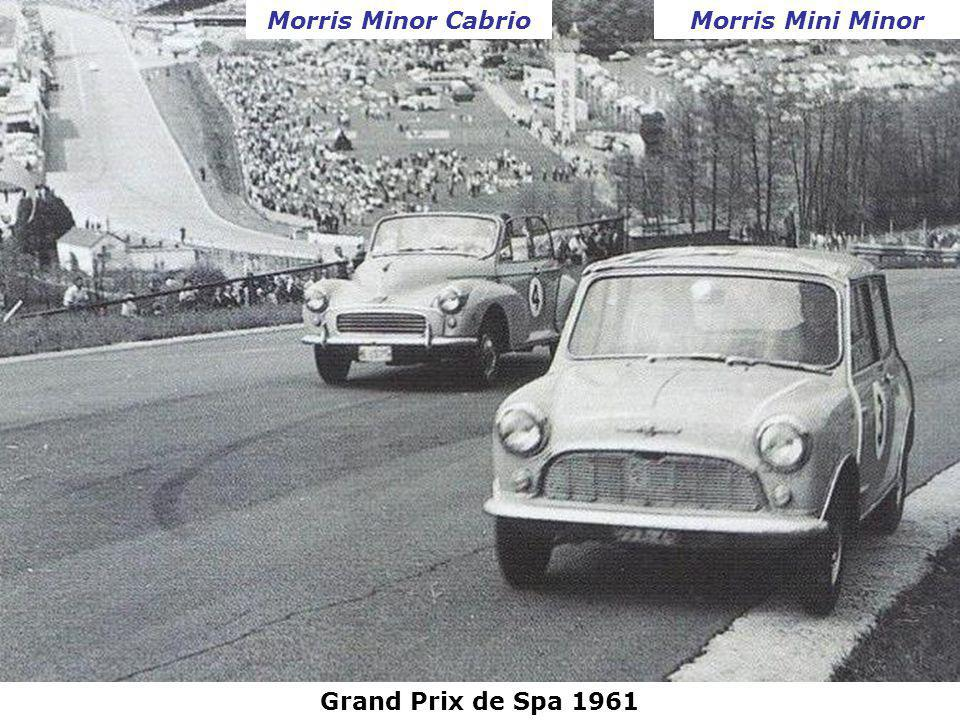 Morris Minor Cabrio Morris Mini Minor Grand Prix de Spa 1961