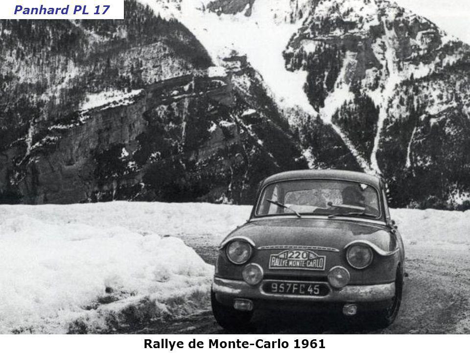 Panhard PL 17 Rallye de Monte-Carlo 1961