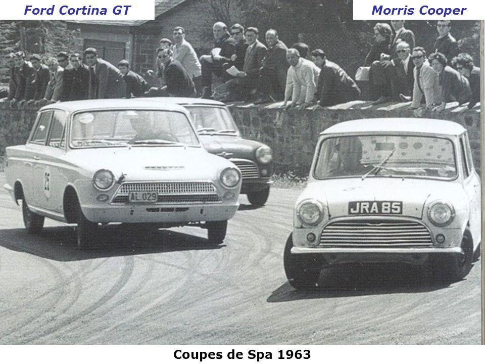 Ford Cortina GT Morris Cooper Coupes de Spa 1963