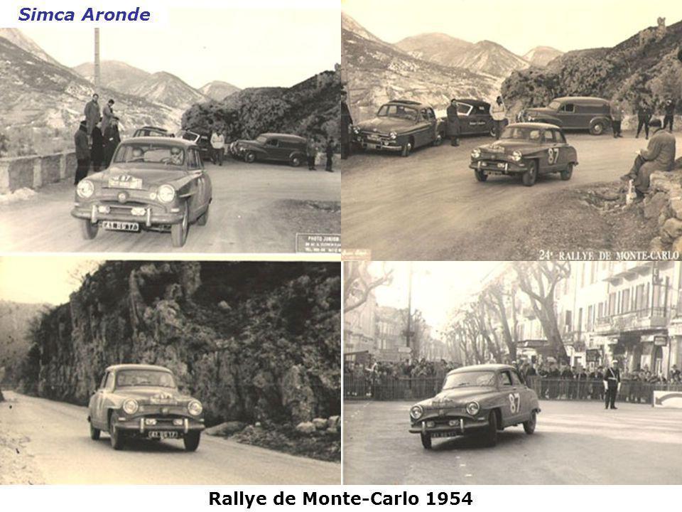 Simca Aronde Rallye de Monte-Carlo 1954