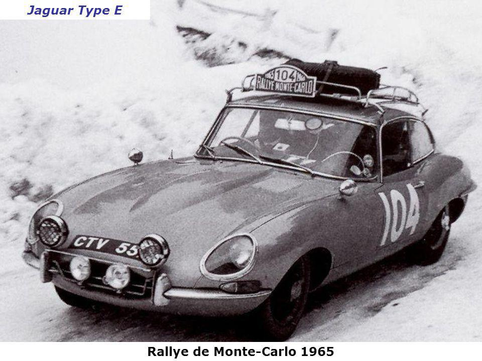 Jaguar Type E Rallye de Monte-Carlo 1965