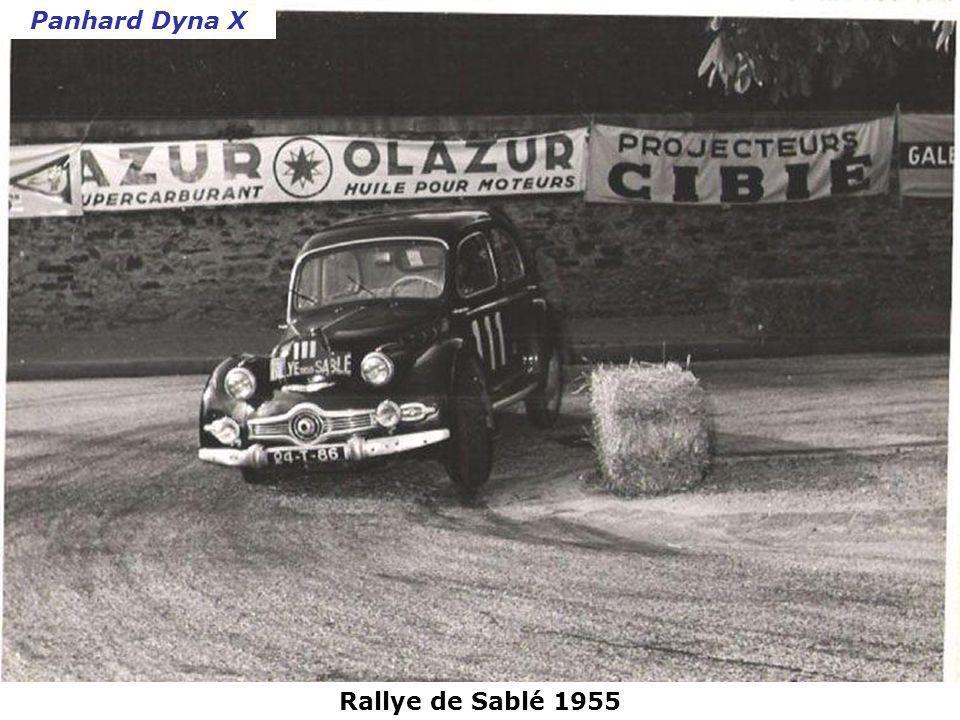 Panhard Dyna X Rallye de Sablé 1955