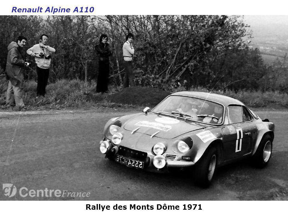Renault Alpine A110 Rallye des Monts Dôme 1971