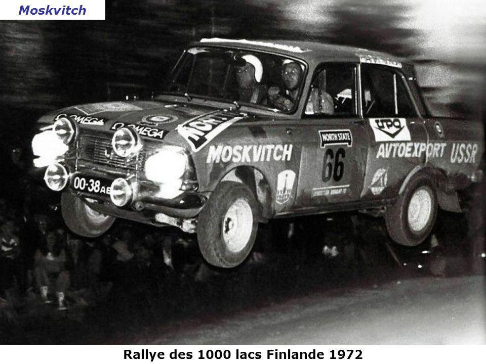 Rallye des 1000 lacs Finlande 1972