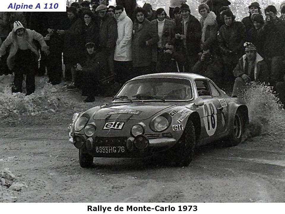 Alpine A 110 Rallye de Monte-Carlo 1973