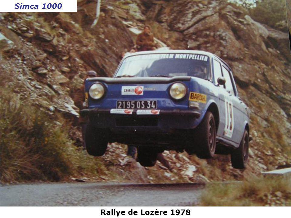 Simca 1000 Rallye de Lozère 1978