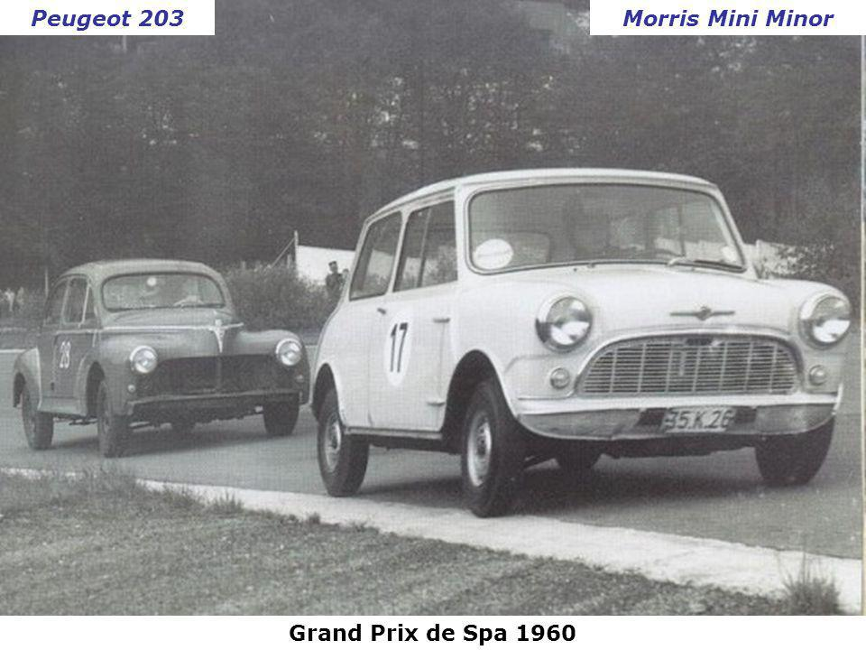 Peugeot 203 Morris Mini Minor Grand Prix de Spa 1960