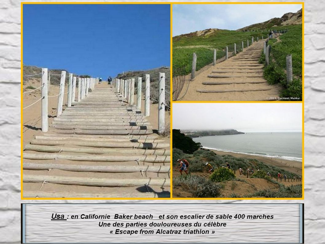 Usa : en Californie Baker beach et son escalier de sable 400 marches