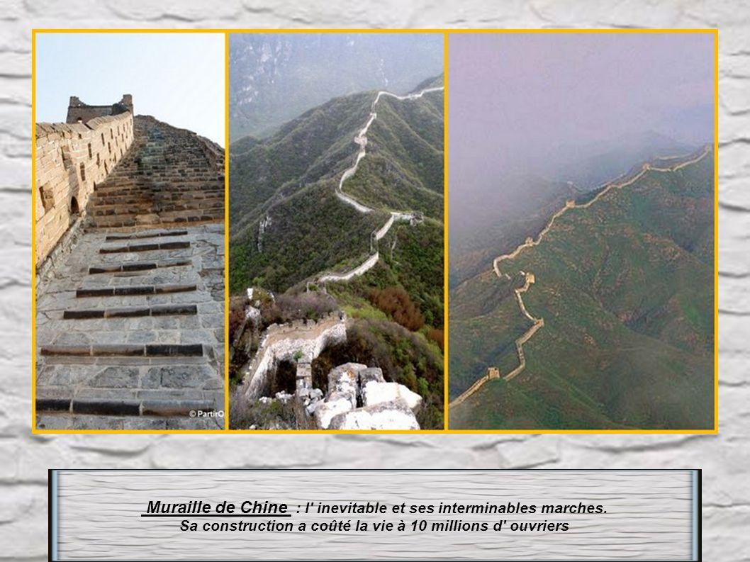 Muraille de Chine : l inevitable et ses interminables marches.