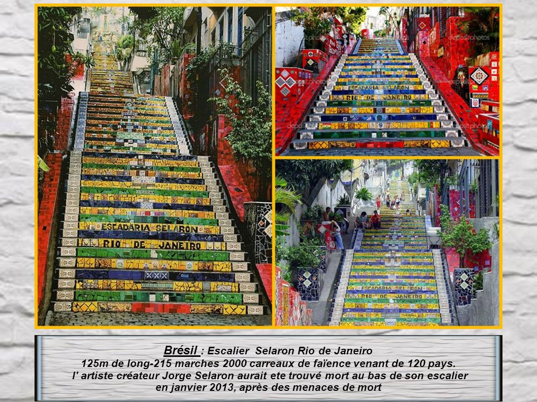 Brésil : Escalier Selaron Rio de Janeiro