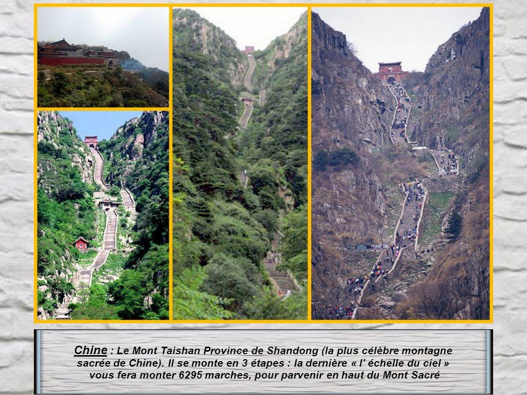 Chine : Le Mont Taishan Province de Shandong (la plus célèbre montagne
