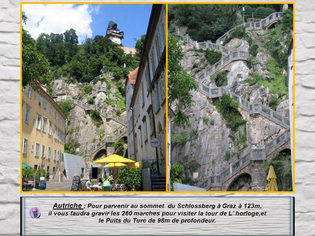 Autriche : Pour parvenir au sommet du Schlossberg à Graz à 123m,