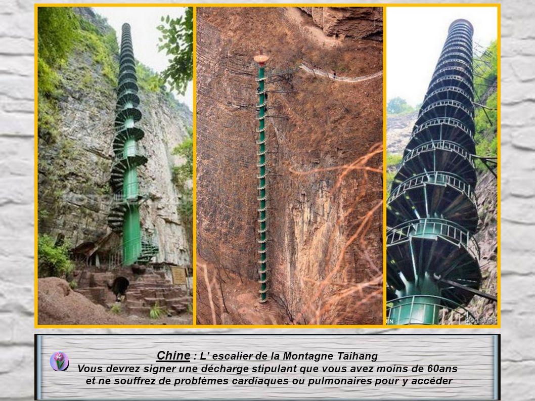 Chine : L escalier de la Montagne Taihang