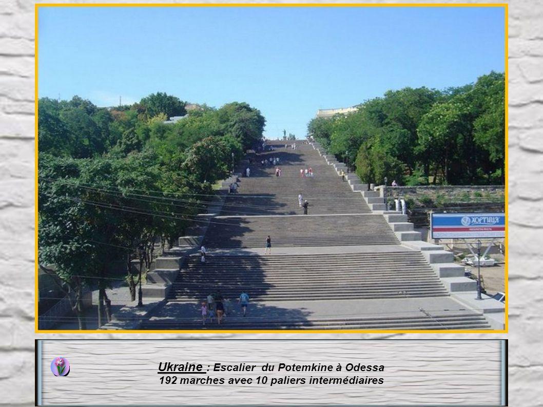 Ukraine : Escalier du Potemkine à Odessa