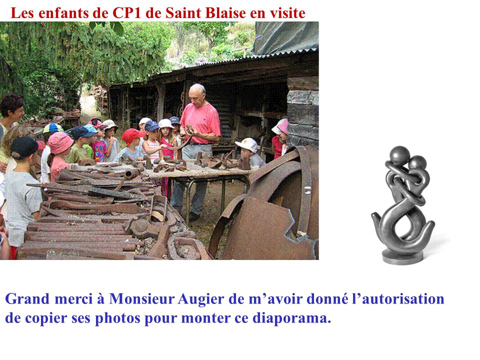 Les enfants de CP1 de Saint Blaise en visite