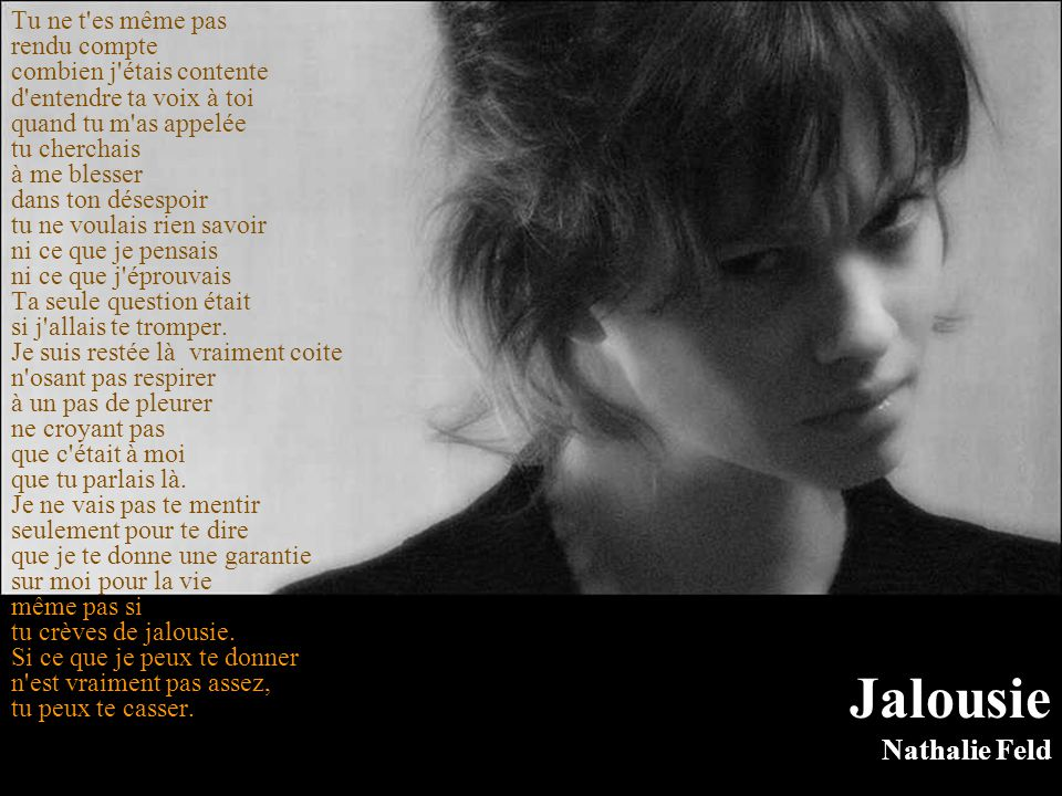 Jalousie Nathalie Feld