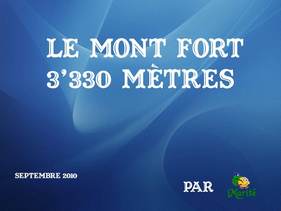 Le Mont Fort 3'330 mètres Septembre 2010 Par