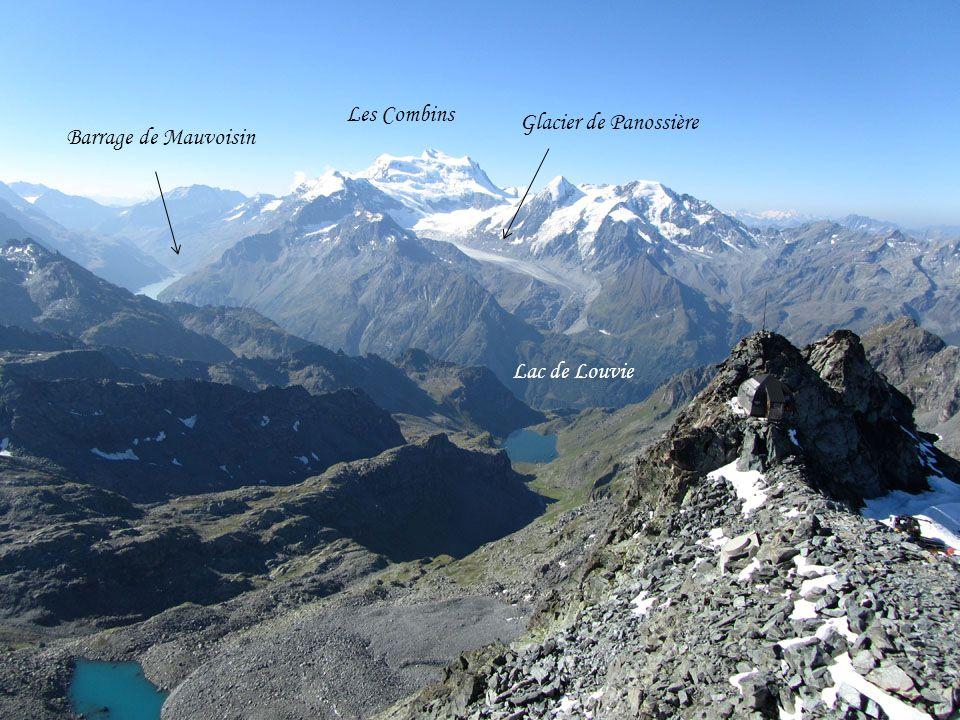 Les Combins Glacier de Panossière Barrage de Mauvoisin Lac de Louvie