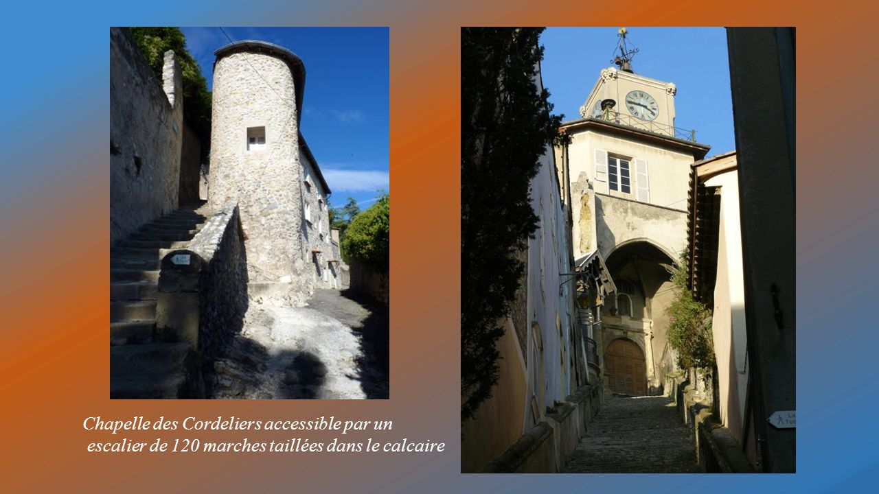 Chapelle des Cordeliers accessible par un