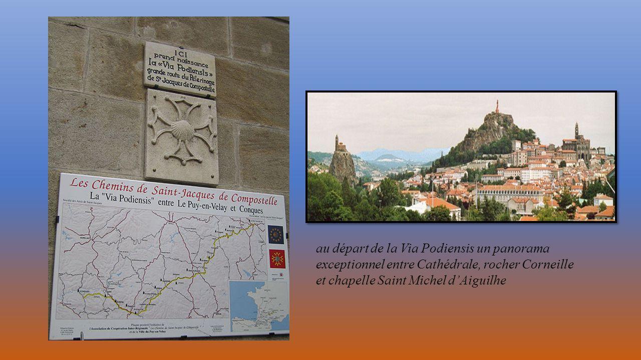 au départ de la Via Podiensis un panorama