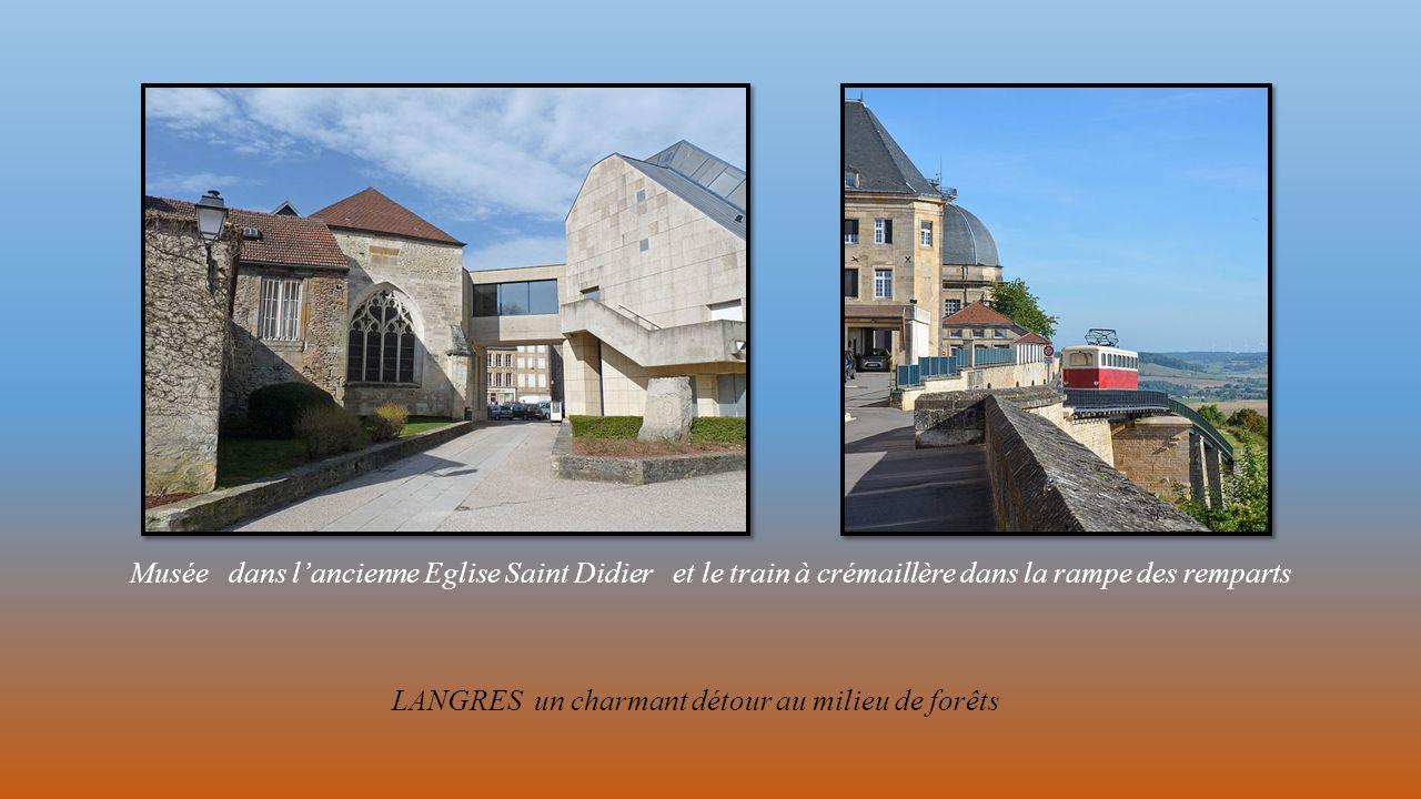 Musée dans l'ancienne Eglise Saint Didier et le train à crémaillère dans la rampe des remparts