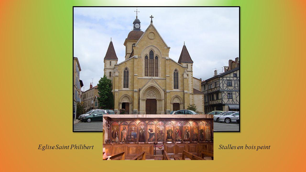 Eglise Saint Philibert Stalles en bois peint