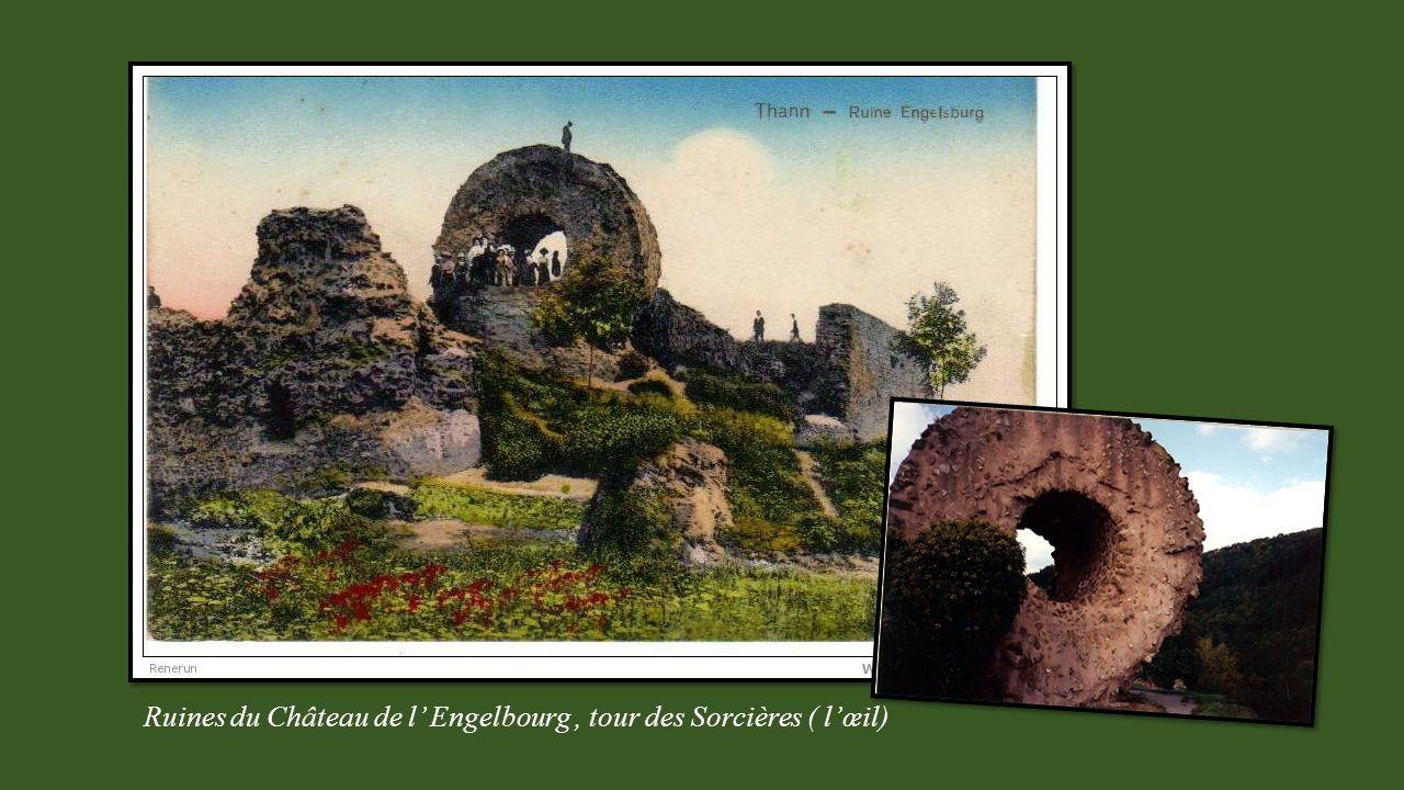 Ruines du Château de l' Engelbourg , tour des Sorcières ( l'œil)
