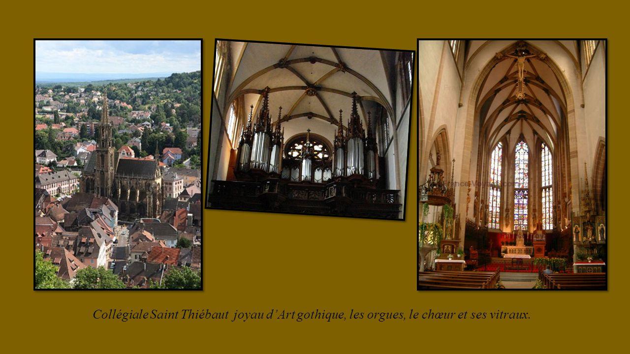 Collégiale Saint Thiébaut joyau d'Art gothique, les orgues, le chœur et ses vitraux.