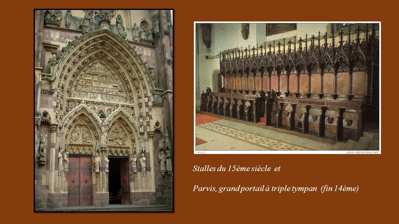 Stalles du 15éme siècle et