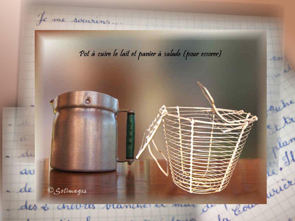 Pot à cuire le lait et panier à salade (pour essorer)