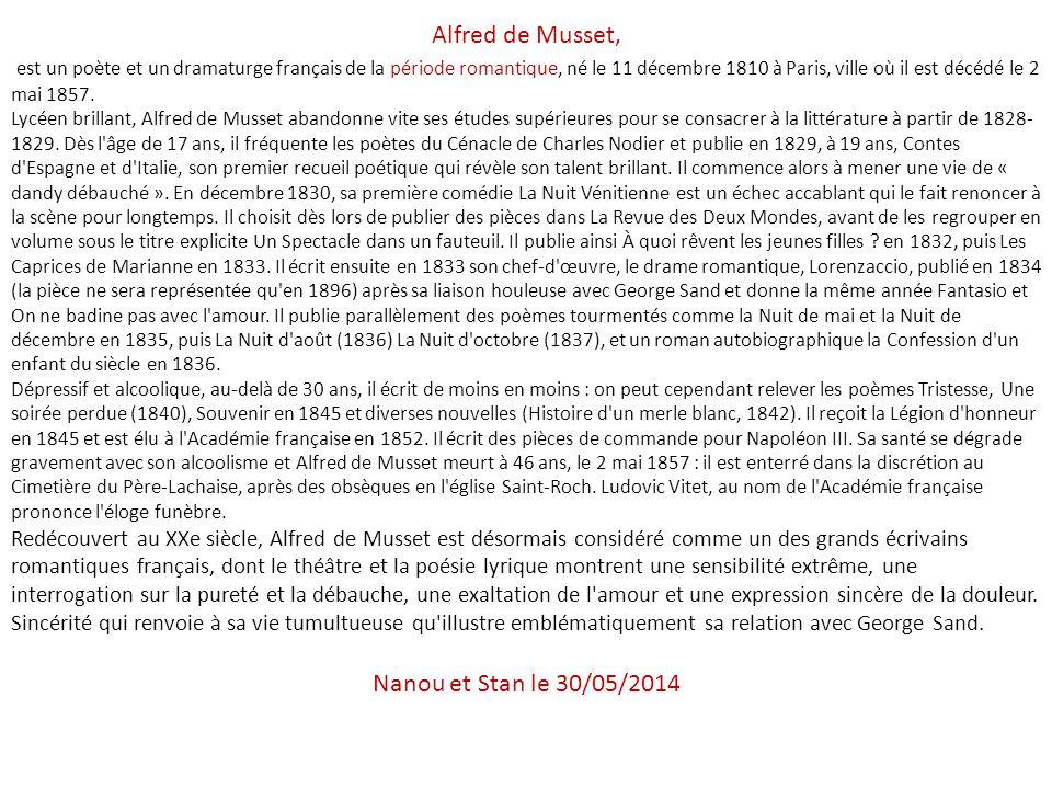 Alfred de Musset,