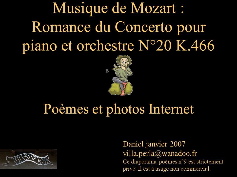 Musique de Mozart : Romance du Concerto pour piano et orchestre N°20 K