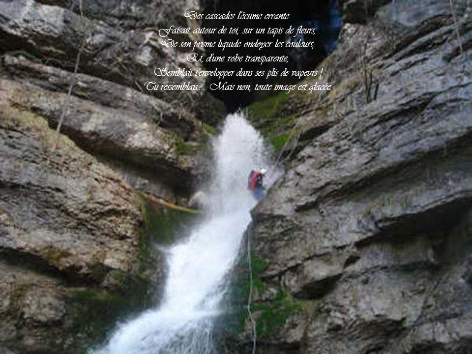 Des cascades l écume errante