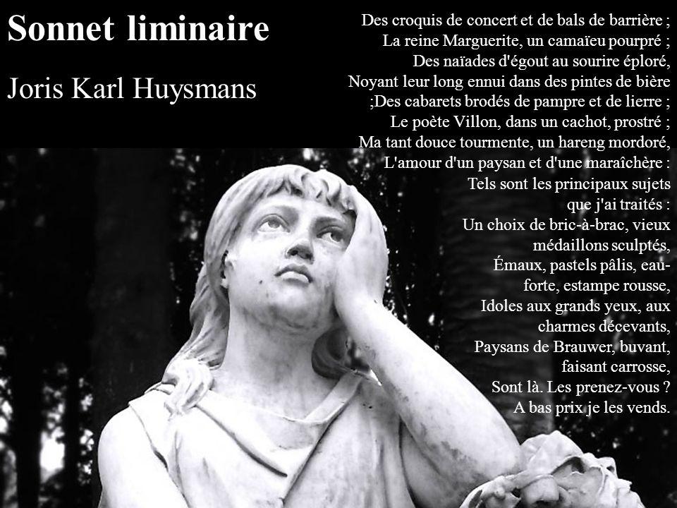 Sonnet liminaire Joris Karl Huysmans.