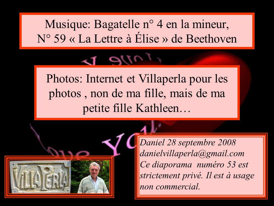 Musique: Bagatelle n° 4 en la mineur, N° 59 « La Lettre à Élise » de Beethoven