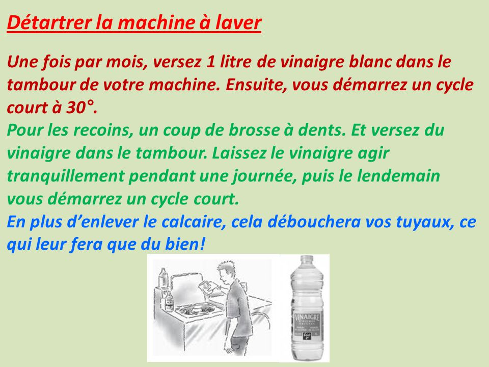 Son taux de concentration ppt video online t l charger - Vinaigre blanc dans machine a laver ...