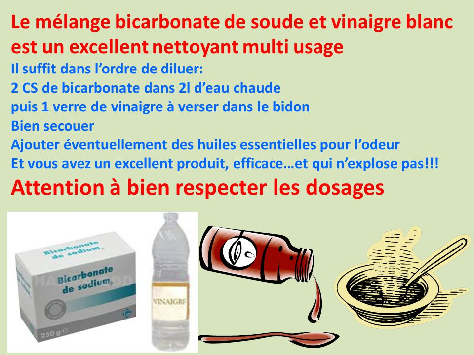 Mlange Vinaigre Blanc Et Bicarbonate. Simple De Soude With Mlange