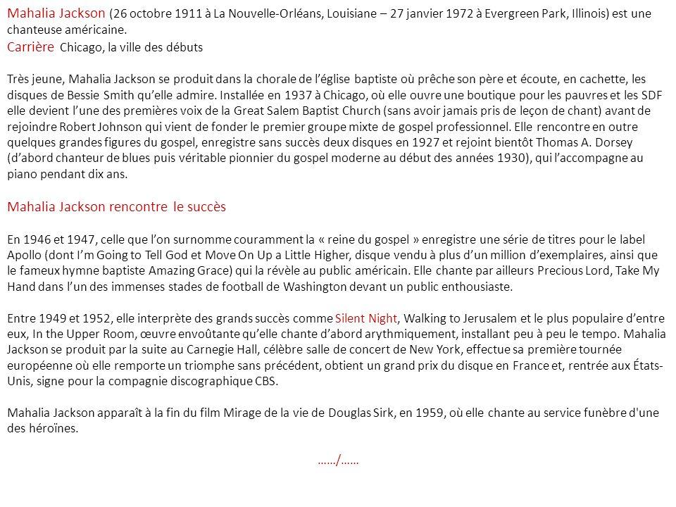 Carrière Chicago, la ville des débuts