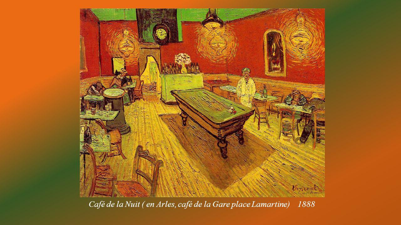 Café de la Nuit ( en Arles, café de la Gare place Lamartine) 1888