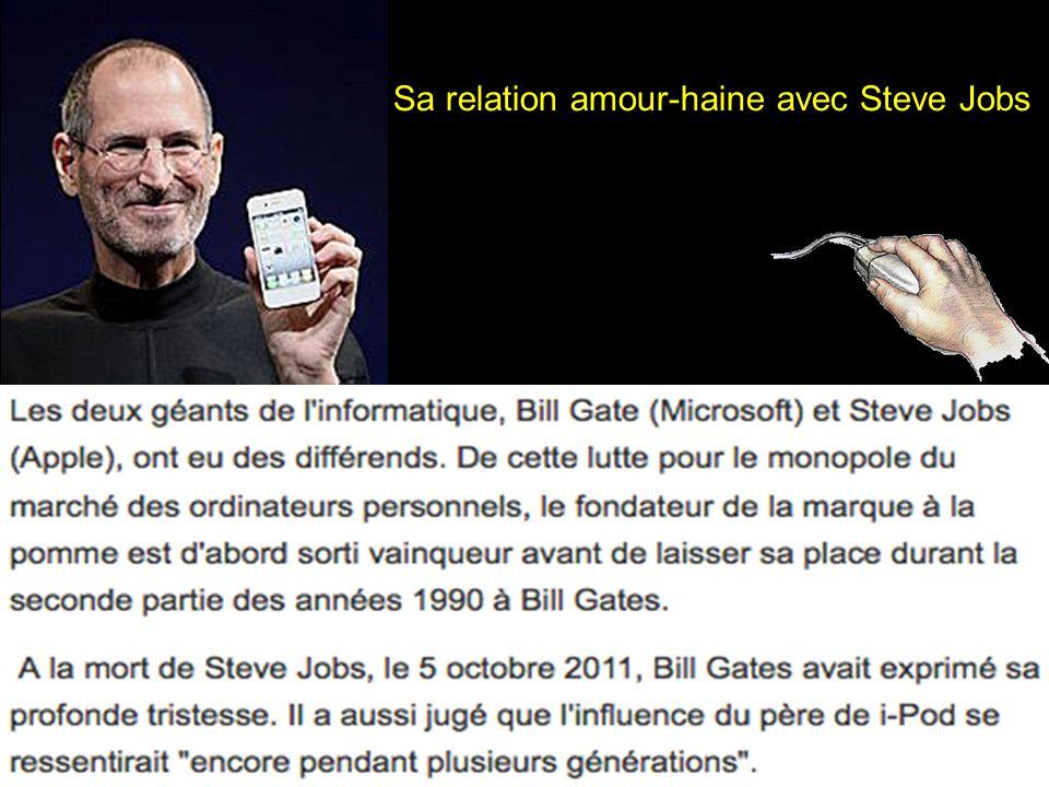 Sa relation amour-haine avec Steve Jobs