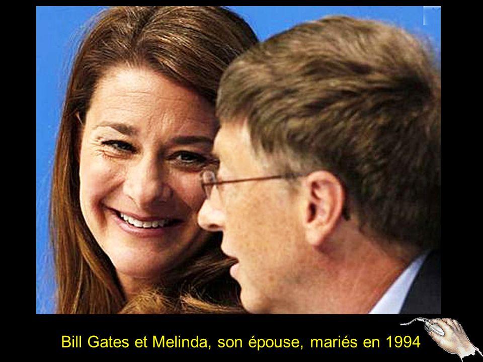 Bill Gates et Melinda, son épouse, mariés en 1994