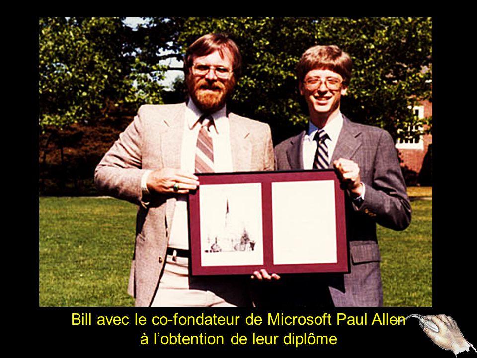 Bill avec le co-fondateur de Microsoft Paul Allen