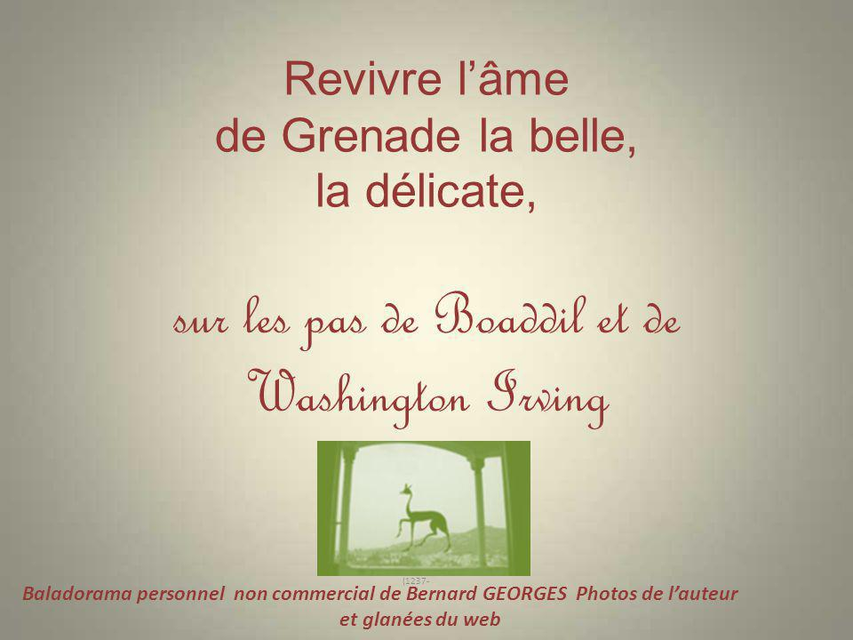 Revivre l'âme de Grenade la belle, la délicate, sur les pas de Boaddil et de Washington Irving