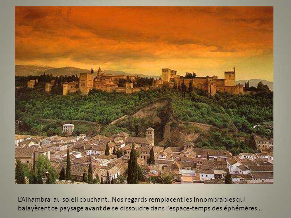 L'Alhambra au soleil couchant