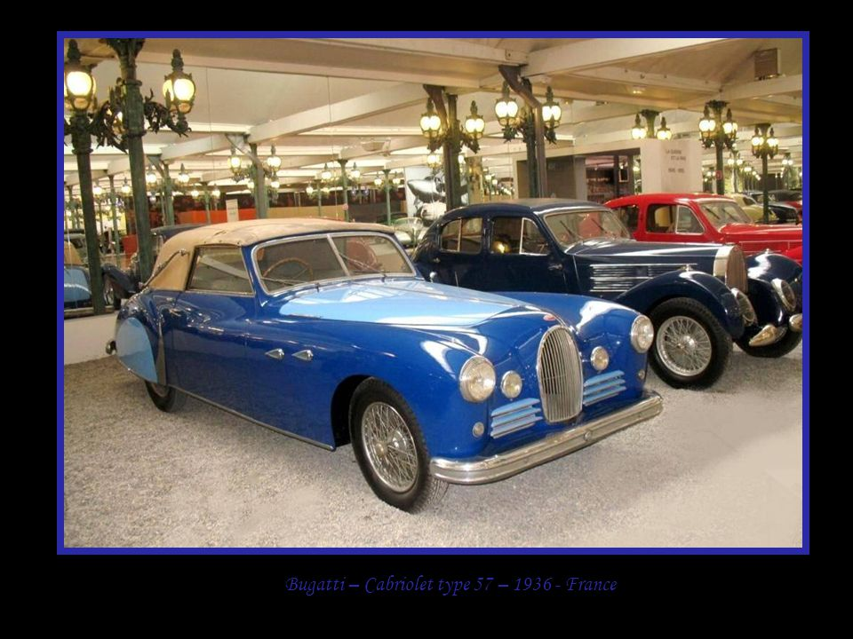 Bugatti – Cabriolet type 57 – 1936 - France