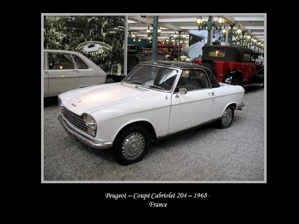 Peugeot – Coupé Cabriolet 204 – 1968 - France