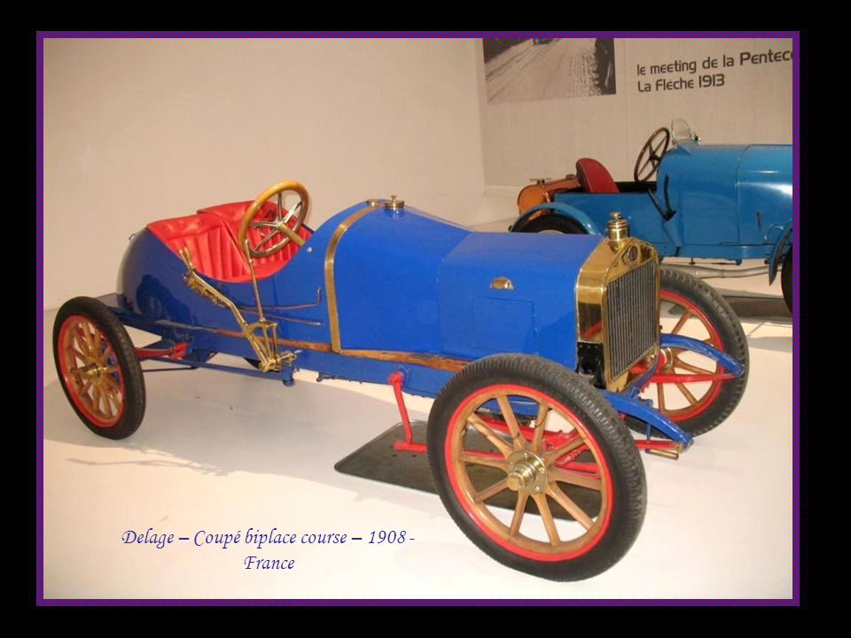 Delage – Coupé biplace course – 1908 - France