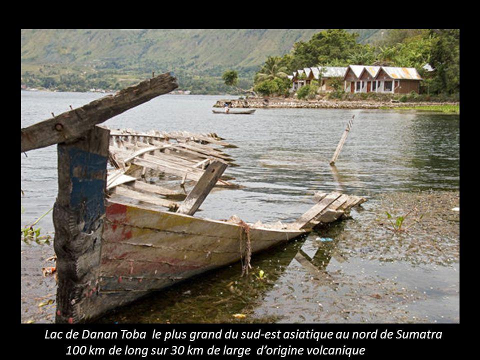 Lac de Danan Toba le plus grand du sud-est asiatique au nord de Sumatra